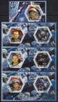 Чад 2014 год. Космонавты. 3 гашеных малых листа + блок