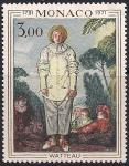 Монако 1972 год. 250 лет со дня рождения художника Жана Ватто. 1 марка