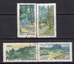 КНДР 1969 год. Военные лагеря для защиты от японских агрессоров. 4 гашёные марки