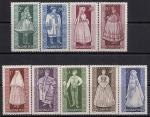 Венгрия 1963 год.Национальные костюмы. 9 марок