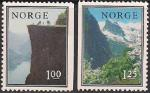 Норвегия 1976 год. Ландшафты. 2 марки