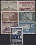 CCCР 1939 год. Реконструкция Москвы. 7 марок с наклейкой