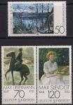 ФРГ 1978 год. Картины немецких художников-импрессионистов. 3 марки
