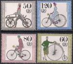 ФРГ 1985 год. Велосипеды (1). 4 марки