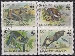 Болгария 1989 год. Летучие мыши. 4 гашёные марки