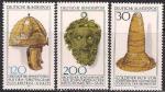ФРГ 1977 год. Археологические находки. 3 марки
