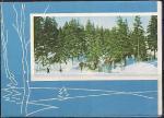 Телеграмма. Серия А-3. Лыжники в лесу, 23.08.1966 год, Пермь