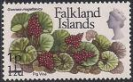 Фолклендские острова 1971 год. Цветок гуннера магелланская. 1 марка из серии с НДП (ном 1)