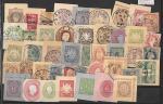 Вырезки с конвертов и ПК, Иностранные страны, 44 штуки