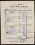 Аттестат № 4 на предметы вещевого довольствия 1941-1946 гг.