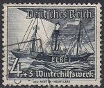 """Германия Рейх 1937 год. Плавучий маяк """"Эльба-1"""". 1 гашёная марка из серии"""