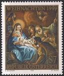 Австрия 1999 год. Рождество. 1 марка