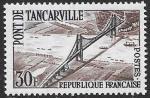 Франция 1959 год. Открытие Танкарвильского моста, 1 марка