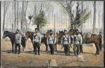 Открытое письмо прошло почту, 1905 год. Военные