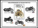 Теркс и Кайкос 1985 год. 100 лет изобретения мотоцикла, блок