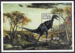 Мальдивы 1999 год. Динозавры, блок. (вправо)