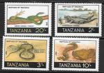 Танзания 1987 год. Рептилии, 4 марки