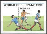 Танзания 1990 год. Чемпионат Мира по футболу в Италии, блок