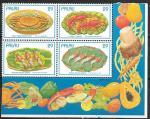 Палау 1993 год. Морепродукты, часть листа