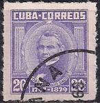 Куба 1954 год. Кубинский антрополог Жозе Антонио Сако  (ном. 20). 1 гашеная марка из серии