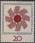 ФРГ 1964 год. День немецкой Католической церкви. Символическое изображение солнца. 1 марка