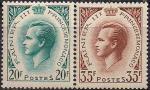 Монако 1957 год. Князь Ренье Третий. 2 марки