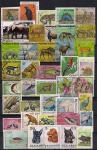 Набор иностранных марок. Флора и фауна. 40 гашеных марок