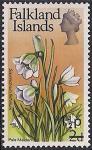 Фолклендские острова 1971 год. Цветок ястребинка зонтичная. 1 марка из серии с НДП (ном 1 1/2)