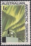 Австралийские Антарктические территории 1966 год. Полярное сияние. 1 марка из серии (ном 1)