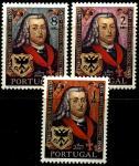 Португалия 1969 год. 200 лет португальской Государственной печати. 3 марки