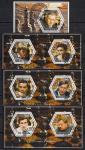 Чад 2014 год. Знаменитые шахматисты. 3 гашеных малых листа + блок