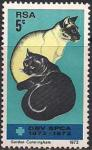 ЮАР 1972 год. 100 лет обществу защиты животных. 1 марка