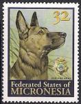 Микронезия 1996 год. Немецкая овчарка. 1 марка  (н)