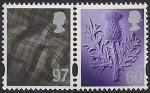 Великобритания. Шотландия. 2010 год. Национальные символы - чертополох и ткань тартан. 2 марки