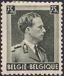 Бельгия 1938 год. Король Леопольд III. 1 марка с наклейкой из серии