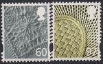 Ирландия 2010 год. Национальные символы - льняная вышивка и плетёная корзина. 2 марки