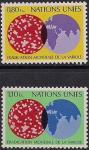 ООН Женева 1978 год. Конгресс по борьбе с оспой. 2 марки