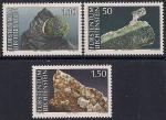 Лихтенштейн 1989 год. Минералы. 3 марки