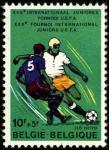 Бельгия 1977 год. Футбольный турнир юниоров UEFA в Бельгии. 1 марка