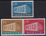 Монако 1969 год. Европа СЕПТ. Символическое здание. 3 марки