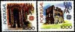 Португалия 1978 год. Европа. Памятники архитектуры в Бельмонте и Лиссабоне. 2 марки