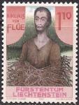 Лихтенштейн 1987 год. 500 лет со дня смерти святого Николауса фон Флюэ. 1 марка