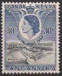 Восточная Африка (Британские колонии) 1954 год. Визит Елизаветы Второй. 1 марка