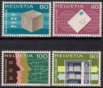 Швейцария 1976 год. Современные средства доставки почты. 4 марки