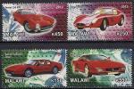 """Малави 2012 год. Модели """"Феррари"""" I. 4 марки"""