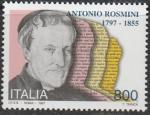 Италия 1997 год. 200 лет со дня рождения графа Антонио Росмини, философа и теолога, 1 марка