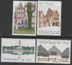 Нидерланды 1975 год. Европейские архитектурные памятники, 4 марки