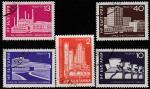 Болгария 1971 год. Здания эпохи социализма, 5 гашёных марок