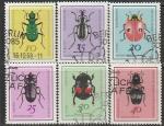 ГДР 1968 год. Полезные жуки, 6 гашёных марок