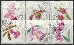 ГДР 1968 год. Орхидеи, 6 гашёных марок